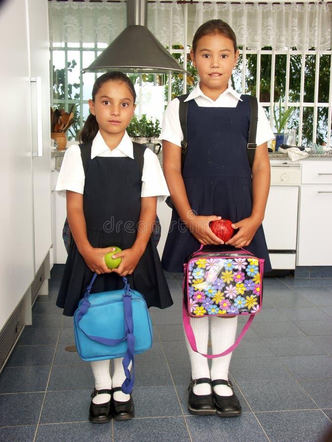 Muchachas de la escuela. fotografía de archivo libre de regalías