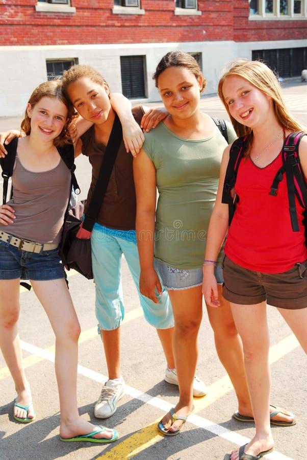 Muchachas de la escuela imagen de archivo