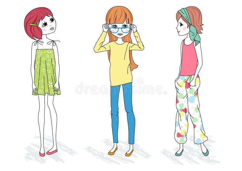 Muchachas de la manera libre illustration