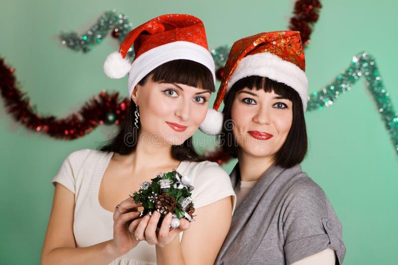 Muchachas de la Navidad imagenes de archivo