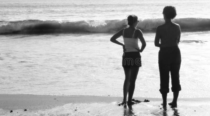 Muchachas de la playa imágenes de archivo libres de regalías