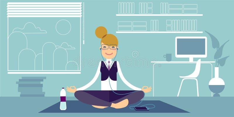 Muchachas de la yoga ilustración del vector