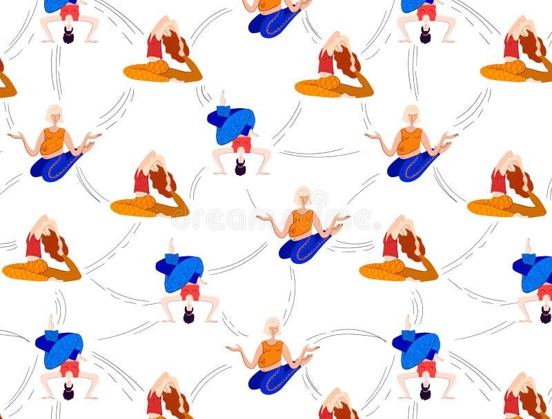 Muchachas de la yoga del vector ilustración del vector