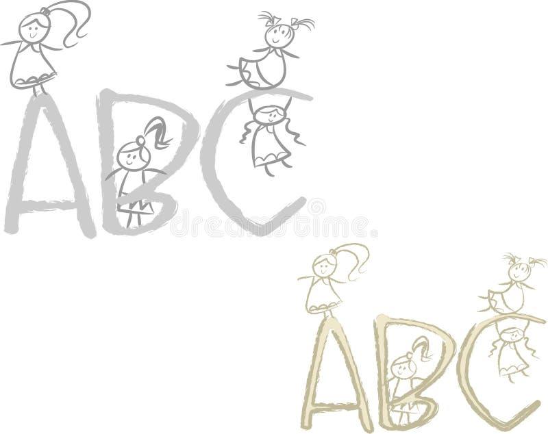 Muchachas del ABC stock de ilustración