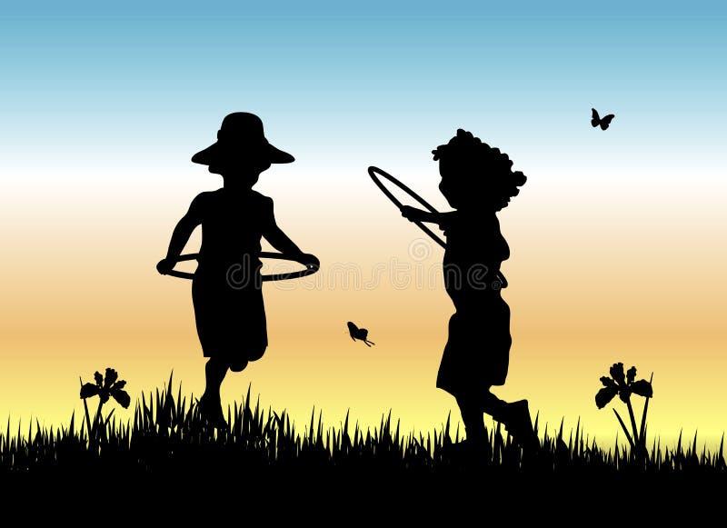 Muchachas del aro de Hula libre illustration
