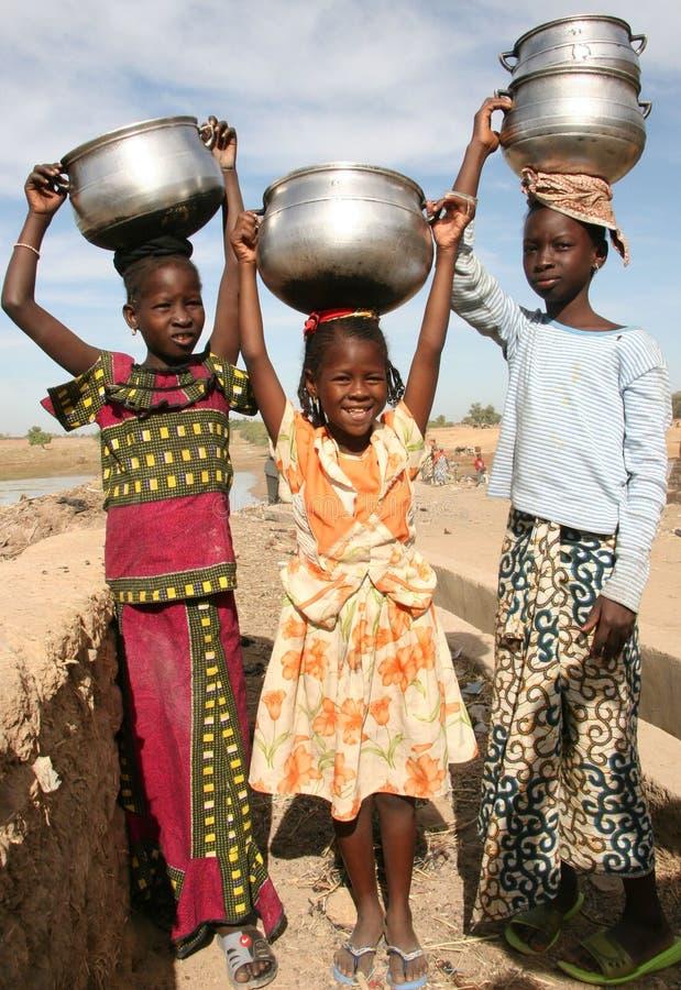 Muchachas en África imagen de archivo libre de regalías