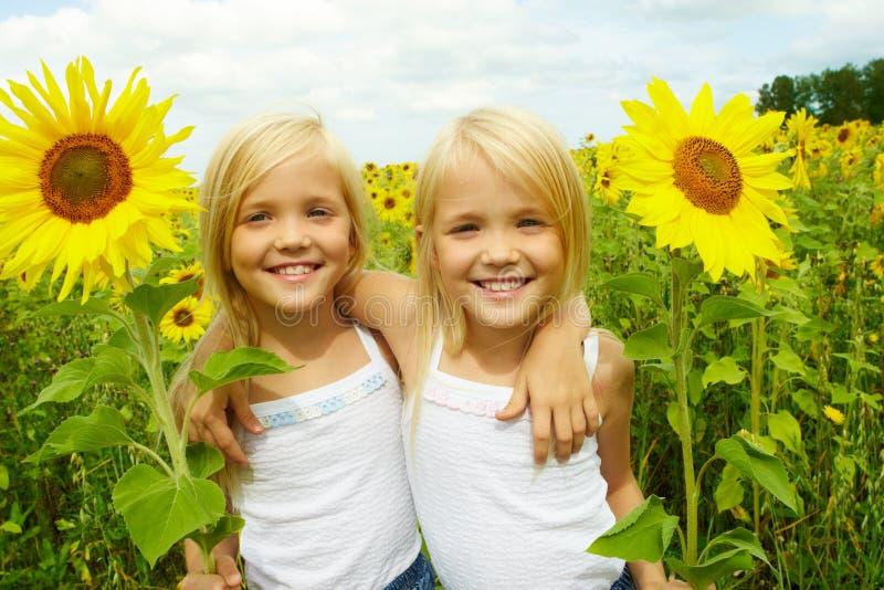 Muchachas felices fotografía de archivo libre de regalías