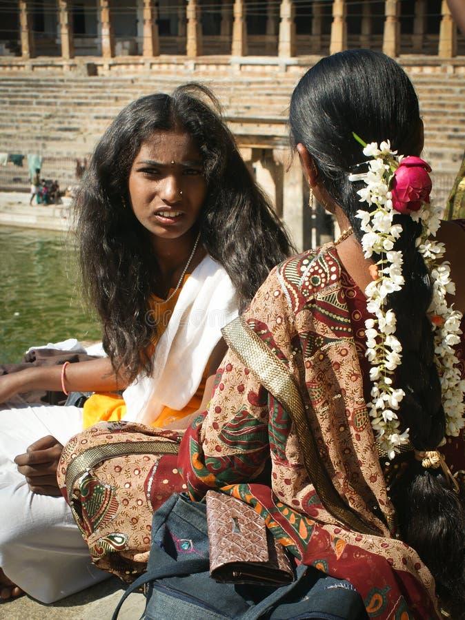 Muchachas indias imagen de archivo