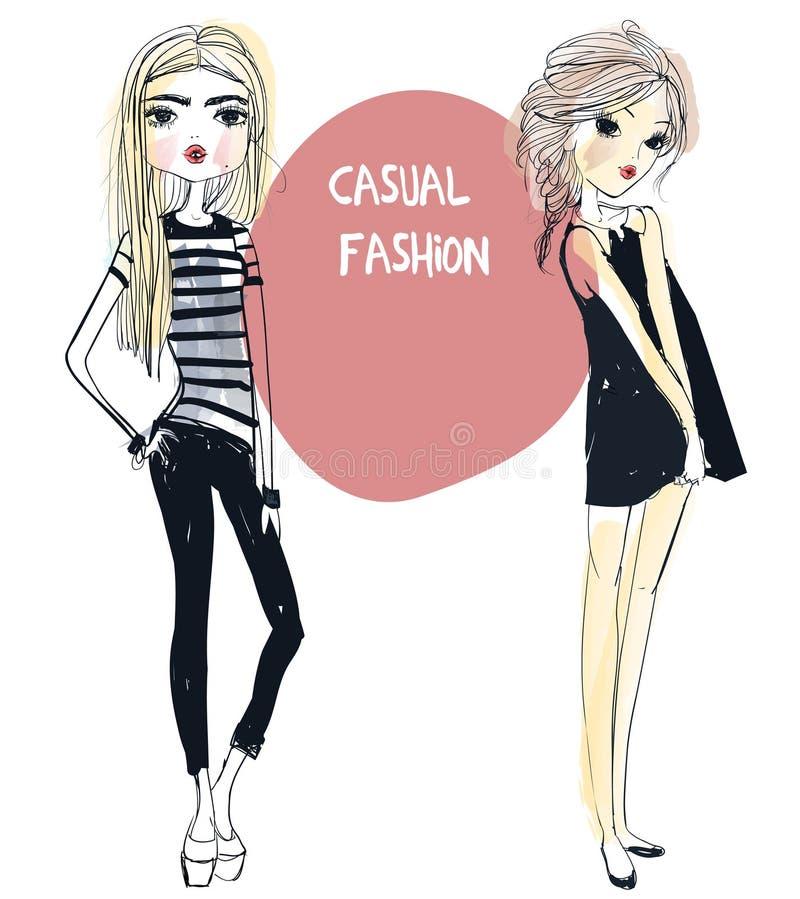 Muchachas lindas de la moda libre illustration