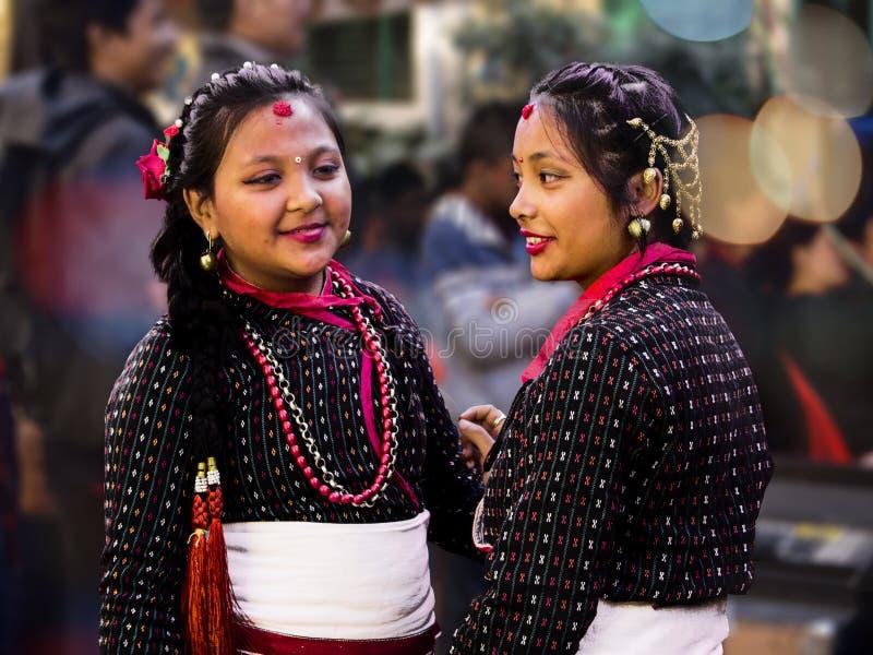 Muchachas lindas de Newari fotos de archivo libres de regalías