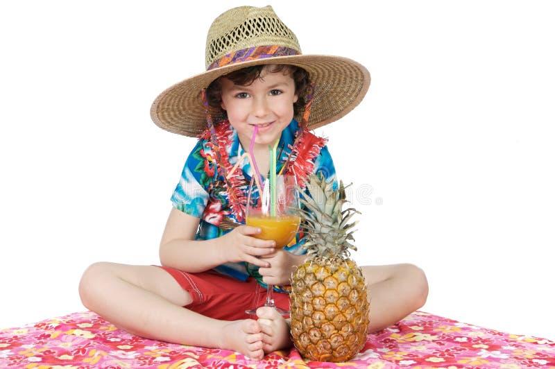 Muchacho adorable en días de fiesta imagen de archivo libre de regalías