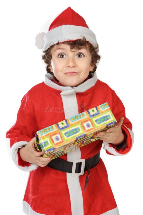 Muchacho adorable en la Navidad imagen de archivo
