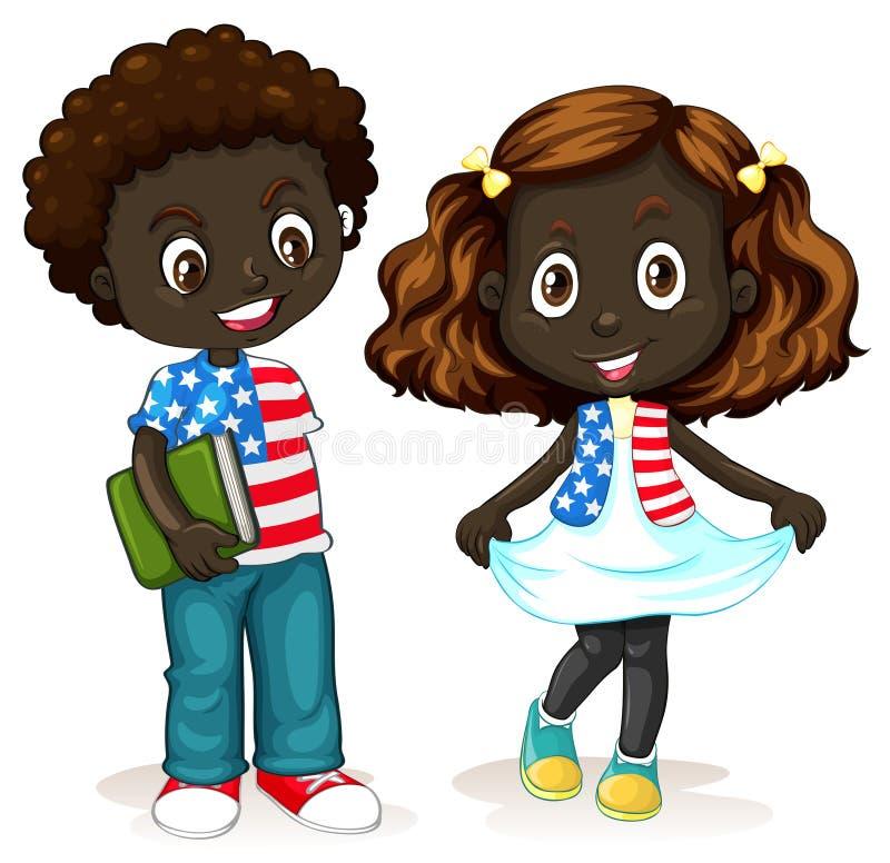 Muchacho afroamericano y muchacha libre illustration