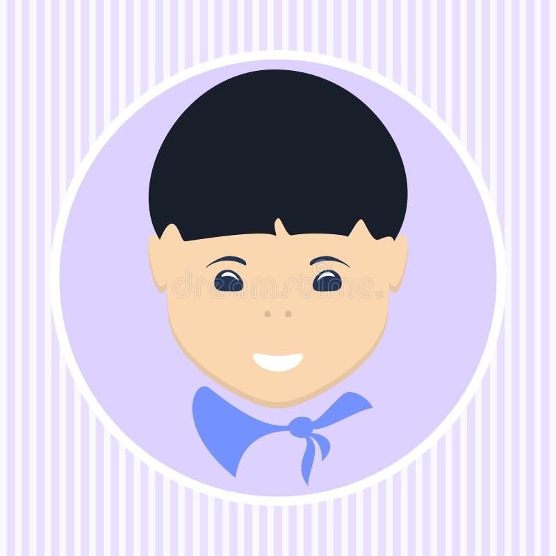 Muchacho asiático Ilustración del vector libre illustration