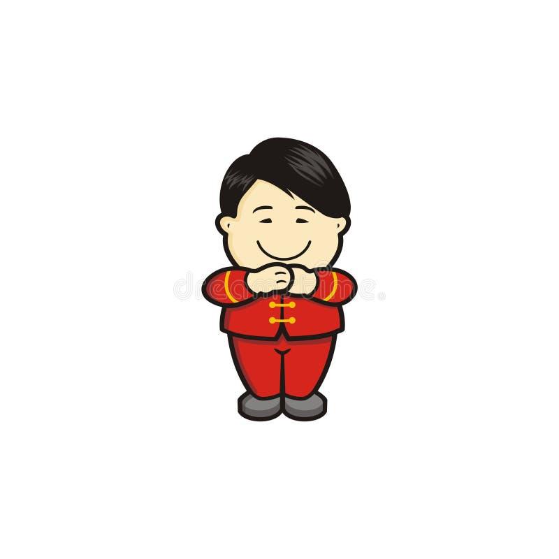 Download Muchacho chino sonriente ilustración del vector. Ilustración de diseño - 100532521