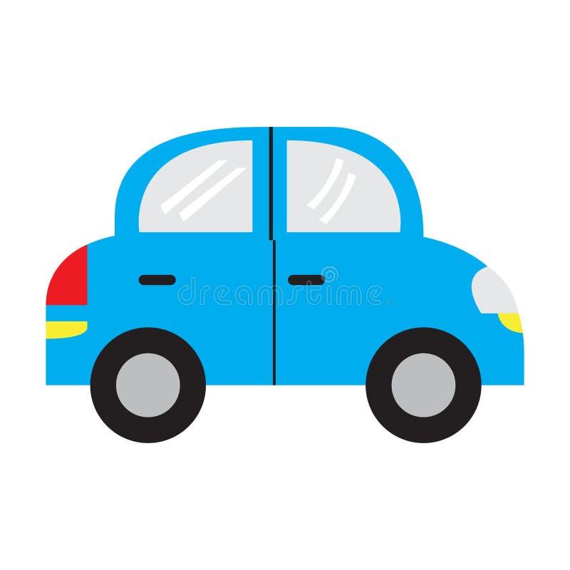 Muchacho con el juguete del coche en cama libre illustration