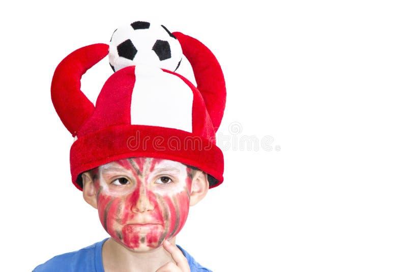 Muchacho con la cara pintada imagen de archivo