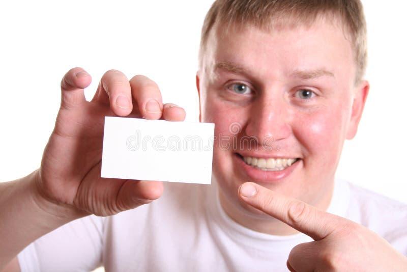 Muchacho con la tarjeta para el texto imagen de archivo libre de regalías