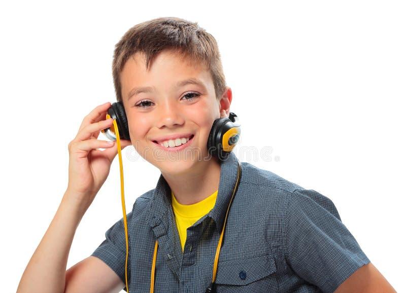 Muchacho con los auriculares foto de archivo libre de regalías