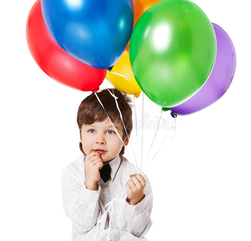 Muchacho con los baloons fotografía de archivo libre de regalías