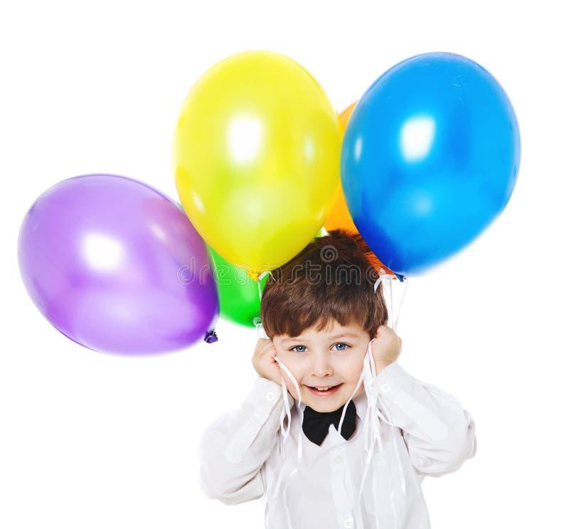 Muchacho con los baloons fotografía de archivo
