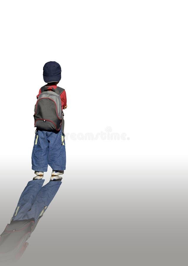 Muchacho de escuela joven