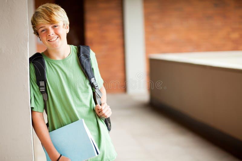 Muchacho de la High School secundaria imagen de archivo libre de regalías
