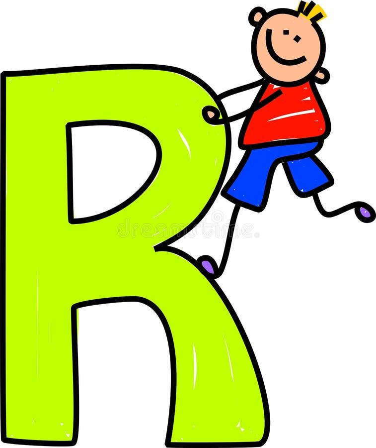 Muchacho de la letra R ilustración del vector