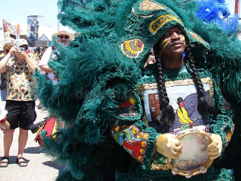 Muchacho de la mosca del jazz de New Orleans y del festival de la herencia fotos de archivo libres de regalías