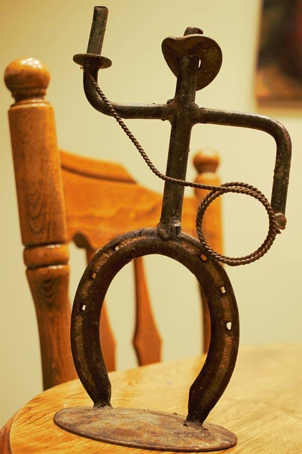 Muchacho de la vaca del hierro imagen de archivo libre de regalías