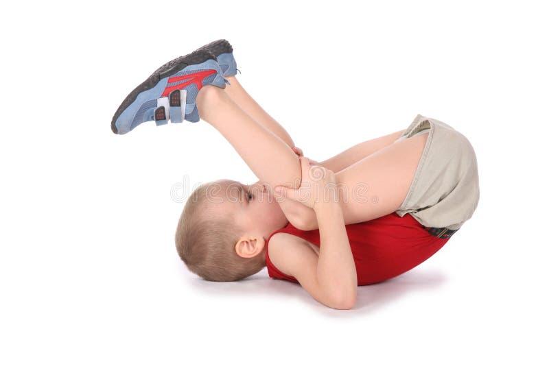 Muchacho de la yoga imagen de archivo libre de regalías