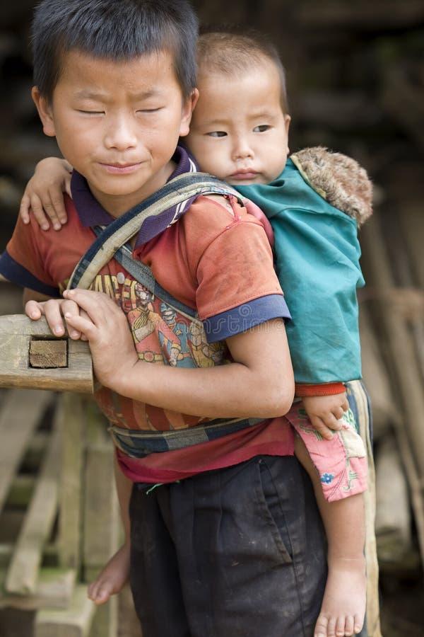 Muchacho de Laos fotos de archivo