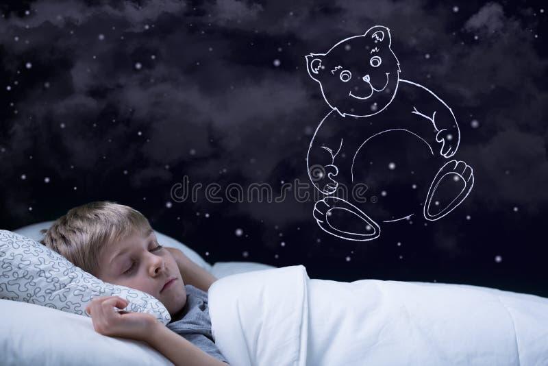 Muchacho de sueño foto de archivo libre de regalías