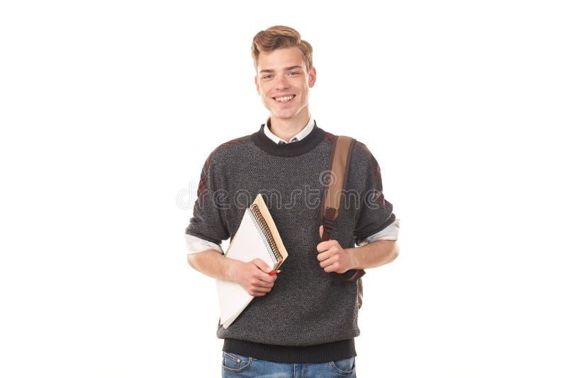 Muchacho de universidad adolescente foto de archivo