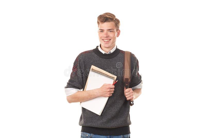 Muchacho de universidad adolescente imagen de archivo