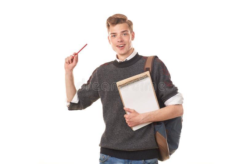 Muchacho de universidad adolescente foto de archivo libre de regalías