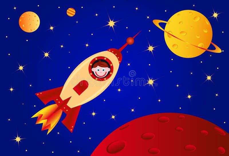 Muchacho del astronauta stock de ilustración