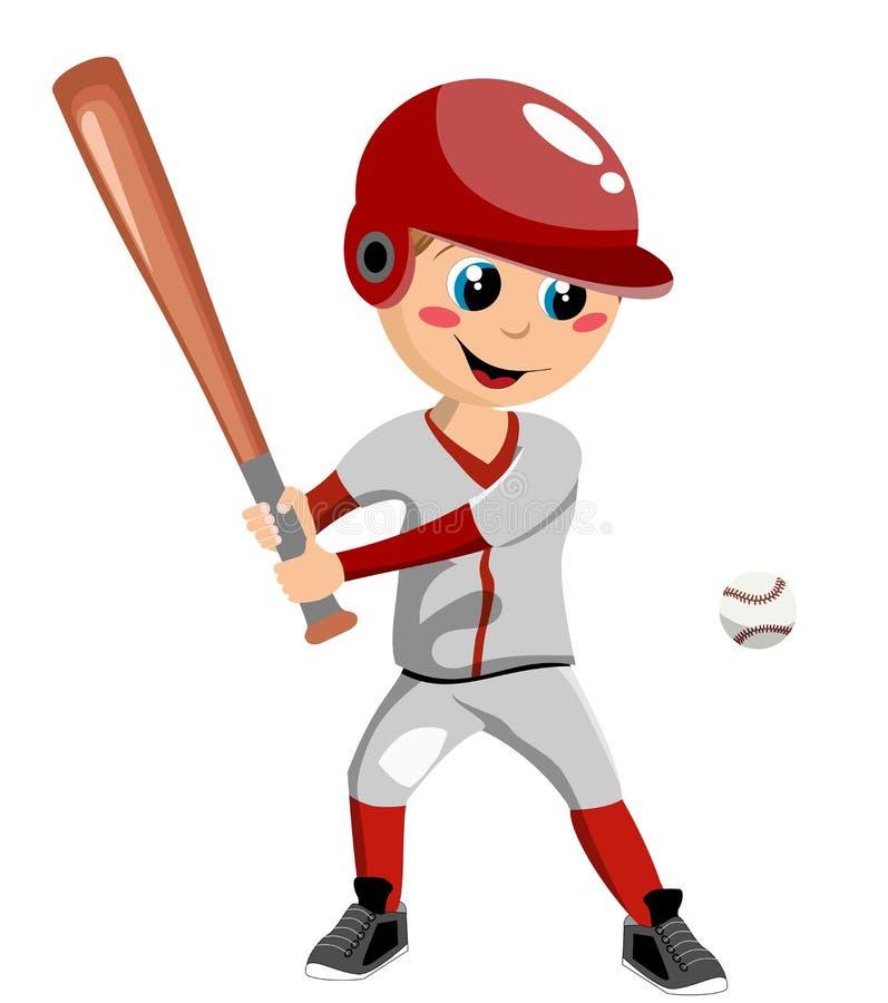 Muchacho del béisbol ilustración del vector