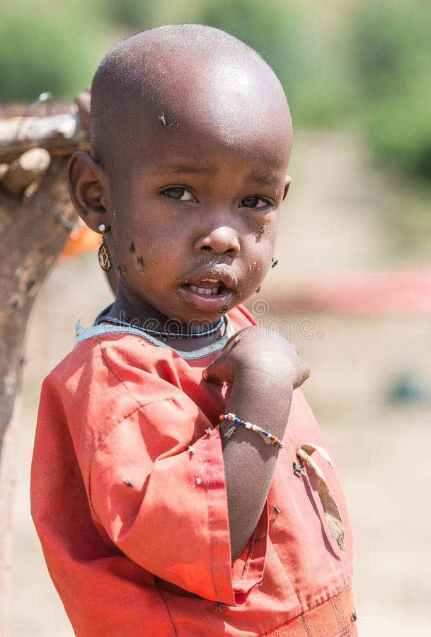 Muchacho del Masai imágenes de archivo libres de regalías