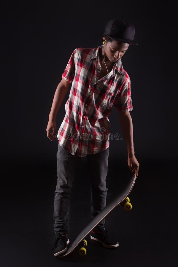 Muchacho del patinador foto de archivo