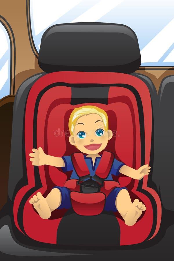 Muchacho en asiento de coche libre illustration