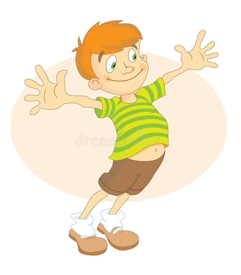 Muchacho en camisa rayada stock de ilustración
