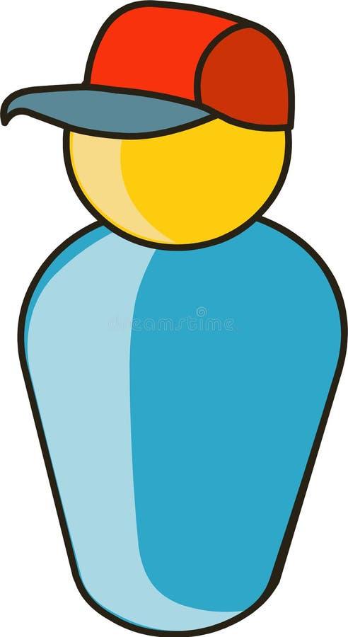 Download Muchacho en casquillo ilustración del vector. Ilustración de ilustración - 7279292