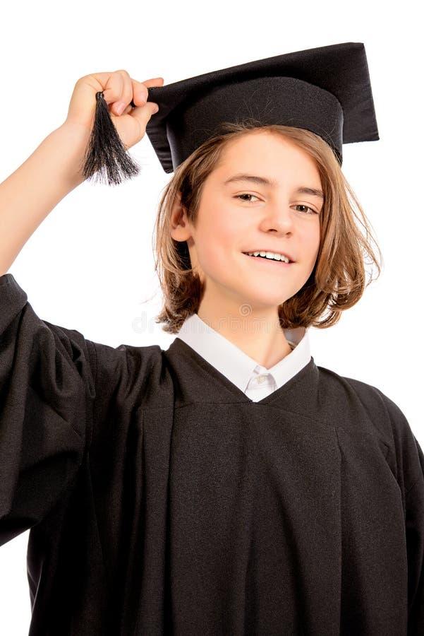 Muchacho en sombrero académico fotos de archivo libres de regalías