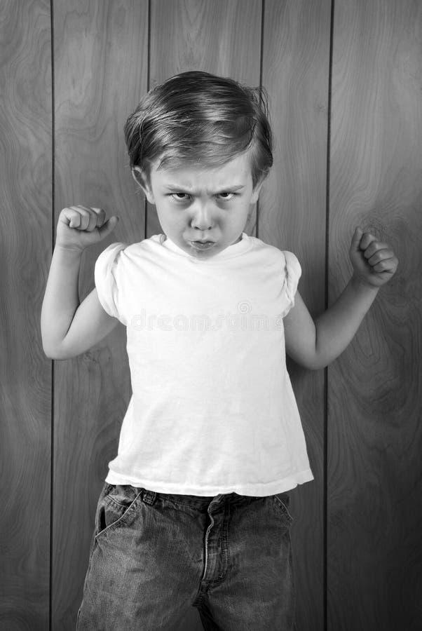 Muchacho enojado fotografía de archivo