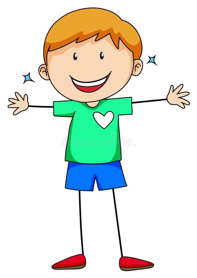 Muchacho feliz libre illustration