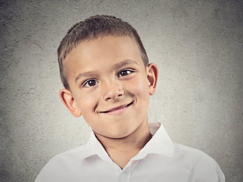 Muchacho feliz del Headshot, niño fotos de archivo