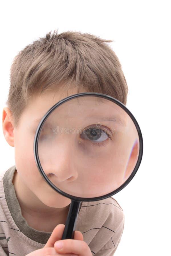 Muchacho joven como espía imágenes de archivo libres de regalías