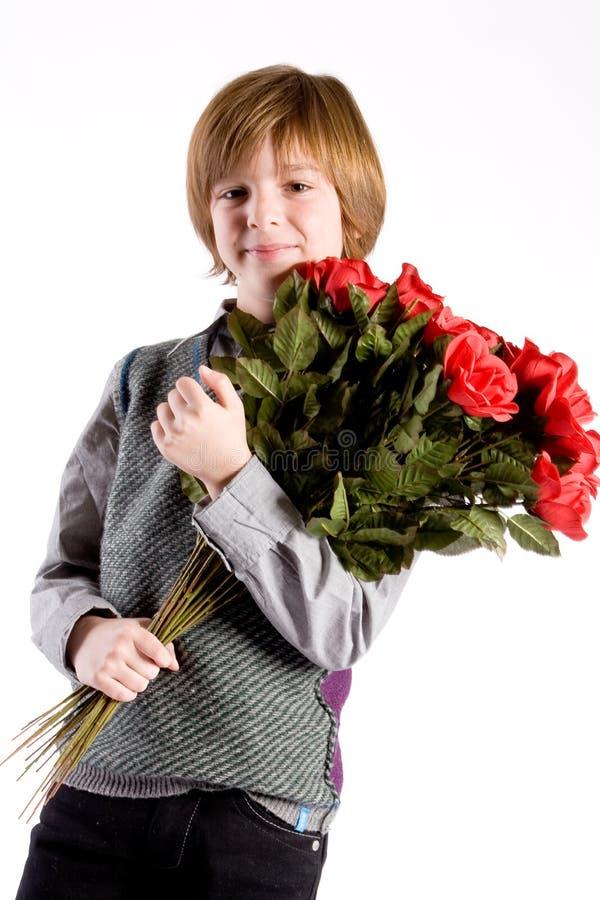 Muchacho joven de la tarjeta del día de San Valentín imagenes de archivo