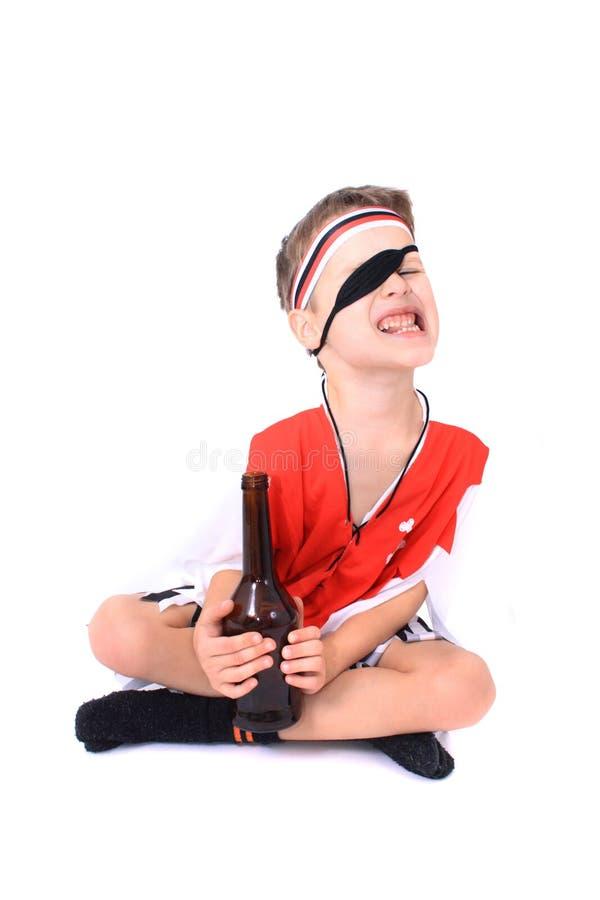 Muchacho joven del pirata fotos de archivo